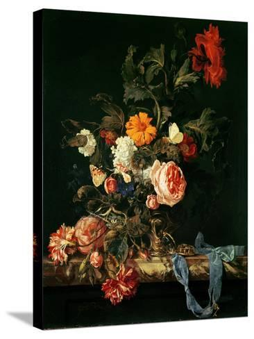 Still Life with Poppies and Roses-Willem Van Aelst-Stretched Canvas Print