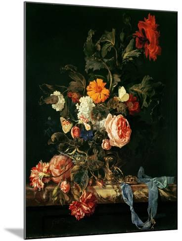 Still Life with Poppies and Roses-Willem Van Aelst-Mounted Giclee Print