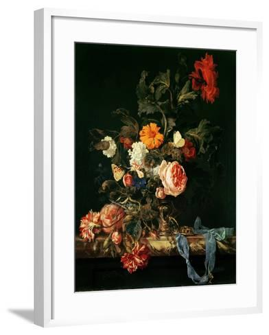 Still Life with Poppies and Roses-Willem Van Aelst-Framed Art Print