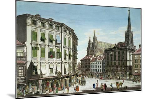 Stock-Im-Eisen-Platz, with St. Stephan's Cathedral in the Background, Engraved by the Artist, 1779-Karl Von Schutz-Mounted Giclee Print