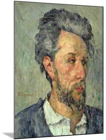 Portrait of Victor Chocquet, 1876-77-Paul C?zanne-Mounted Giclee Print