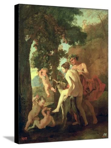 Venus, Faun and Putti, Early 1630s-Nicolas Poussin-Stretched Canvas Print