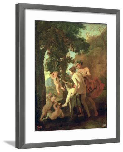 Venus, Faun and Putti, Early 1630s-Nicolas Poussin-Framed Art Print