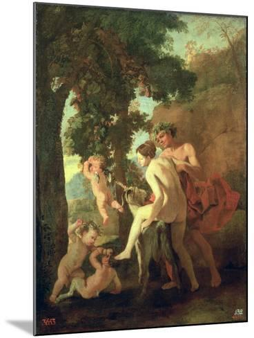 Venus, Faun and Putti, Early 1630s-Nicolas Poussin-Mounted Giclee Print