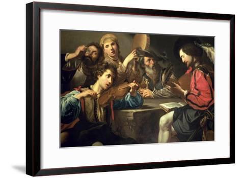 A Musical Gathering-Valentin de Boulogne-Framed Art Print