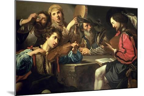 A Musical Gathering-Valentin de Boulogne-Mounted Giclee Print