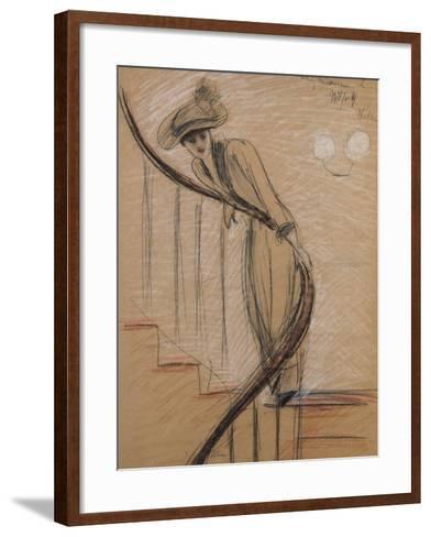 The Staircase-Paul Cesar Helleu-Framed Art Print