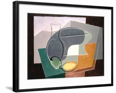 Fruit-Dish and Carafe, 1927-Juan Gris-Framed Art Print