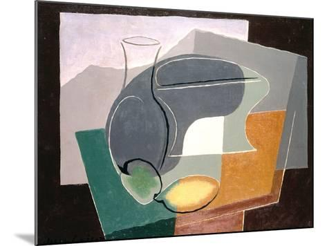 Fruit-Dish and Carafe, 1927-Juan Gris-Mounted Giclee Print