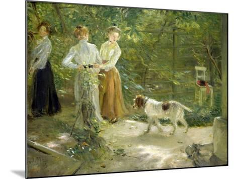 View of the Artist's Garden with His Daughters, 1903-Fritz von Uhde-Mounted Giclee Print
