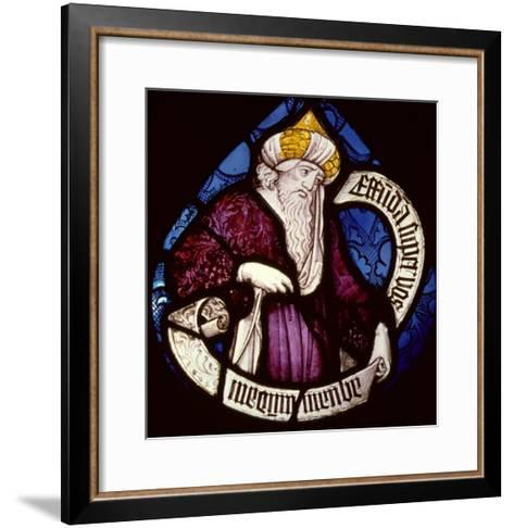 Roundel of the Prophet Ezekiel, 15th Century--Framed Art Print