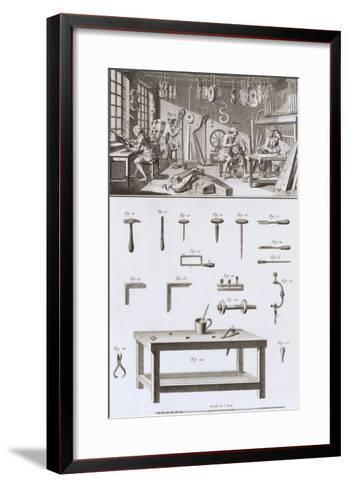 Plate XVIII: the Instrument Maker's Workshop and Tools-Robert Benard-Framed Art Print