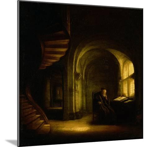 Philosopher with an Open Book, 1625-7-Rembrandt van Rijn-Mounted Giclee Print