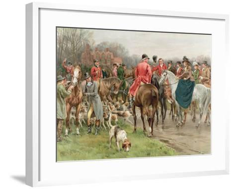A Winter's Morning, from the Pears Annual, 1908-Frank Dadd-Framed Art Print