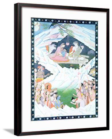 The Holy Family of Shiva and Parvati on Mount Kailash--Framed Art Print