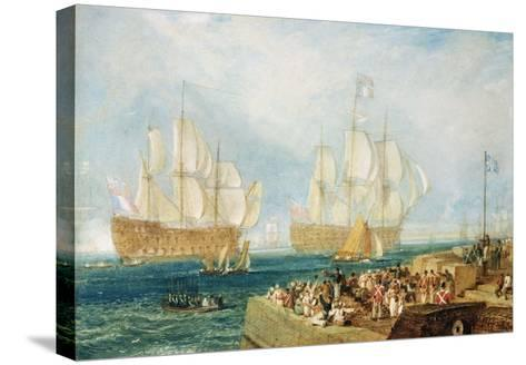 Plymouth Harbour: Towing In-J^ M^ W^ Turner-Stretched Canvas Print
