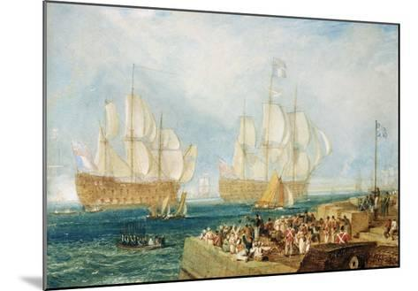 Plymouth Harbour: Towing In-J^ M^ W^ Turner-Mounted Giclee Print