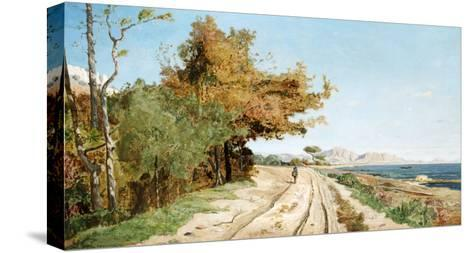Road on the Edge of the Mediterranean, Near Marseille-Paul Guigou-Stretched Canvas Print