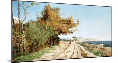 Road on the Edge of the Mediterranean, Near Marseille-Paul Guigou-Mounted Giclee Print