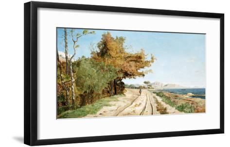 Road on the Edge of the Mediterranean, Near Marseille-Paul Guigou-Framed Art Print