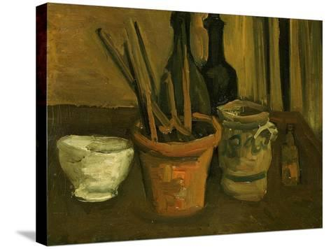 Still Life of Paintbrushes in a Flowerpot-Vincent van Gogh-Stretched Canvas Print