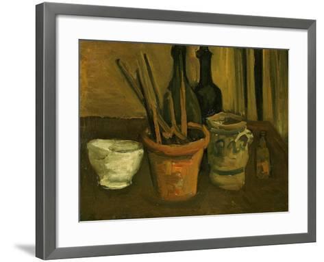 Still Life of Paintbrushes in a Flowerpot-Vincent van Gogh-Framed Art Print
