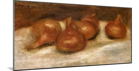 Still Life of Onions-Pierre-Auguste Renoir-Mounted Giclee Print