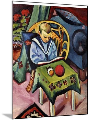 A Young Boy with Books and Toys-Auguste Macke-Mounted Giclee Print
