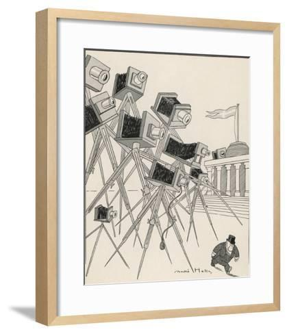 Comment on the Total Lack of Privacy for Public Figures-Andre Helle-Framed Art Print