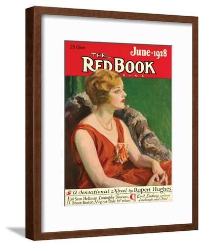 Redbook, June 1928--Framed Art Print