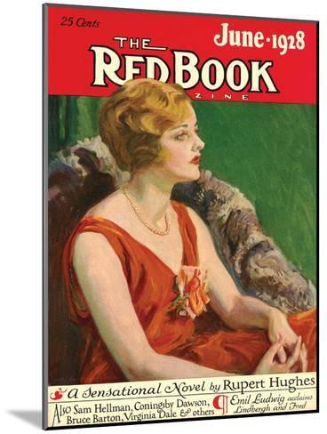 Redbook, June 1928--Mounted Art Print