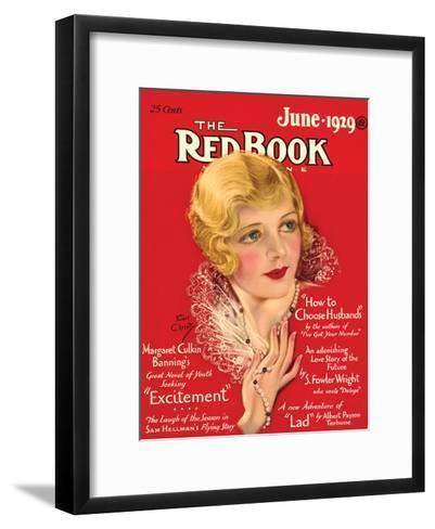 Redbook, June 1929--Framed Art Print