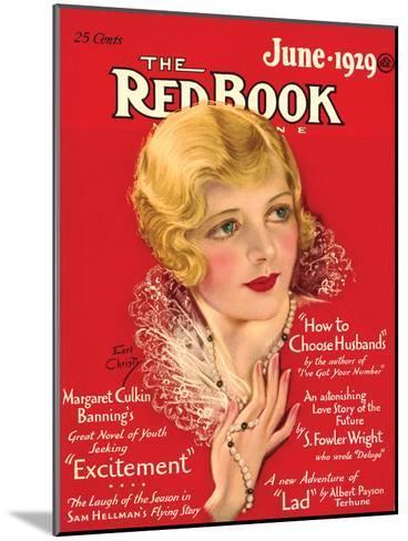 Redbook, June 1929--Mounted Art Print