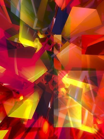 Futuristic Texture--Stretched Canvas Print