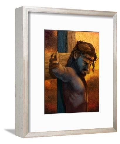 Jesus on Cross--Framed Art Print