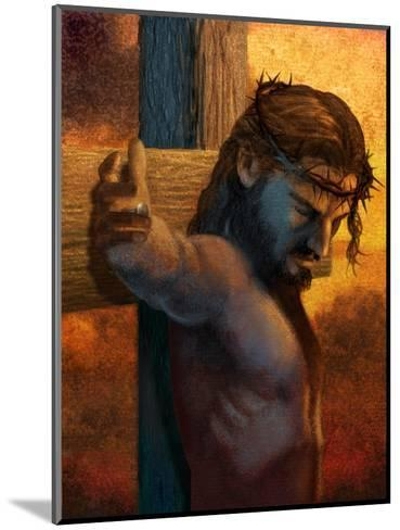 Jesus on Cross--Mounted Art Print