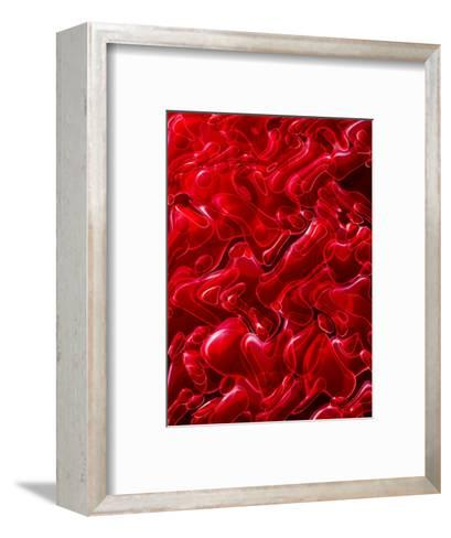 Bubbly Red Texture--Framed Art Print
