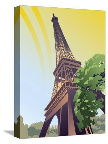 A View of the Eiffel Tower--Stretched Canvas Print