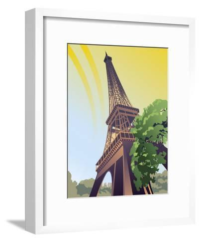 A View of the Eiffel Tower--Framed Art Print