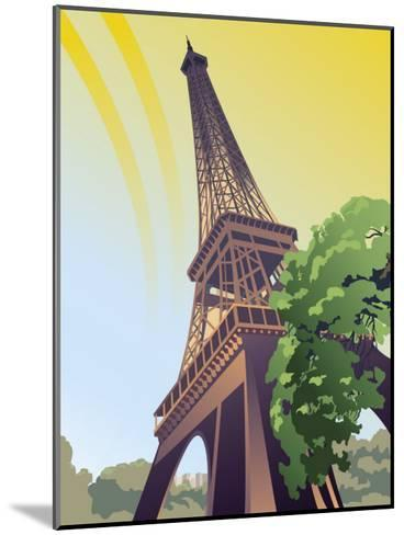 A View of the Eiffel Tower--Mounted Art Print