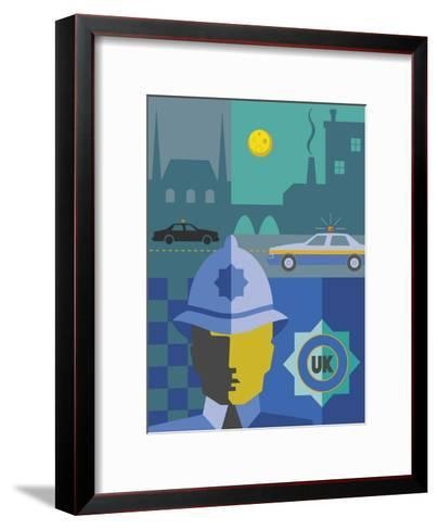 UK Police Montage--Framed Art Print