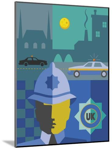 UK Police Montage--Mounted Art Print