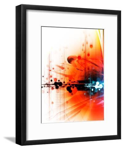 Texture, a Burning Texture--Framed Art Print