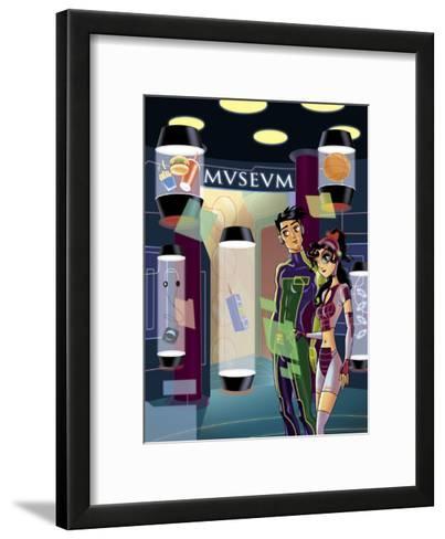 Futuristic Museum--Framed Art Print