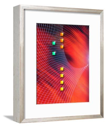 Squares and Grid Texture--Framed Art Print