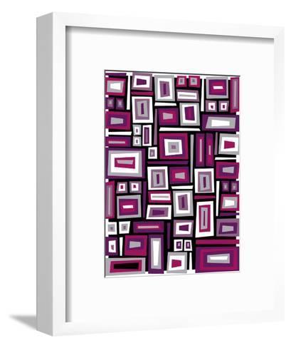 Abstract Rectangle Texture--Framed Art Print