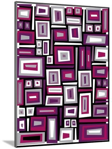 Abstract Rectangle Texture--Mounted Art Print