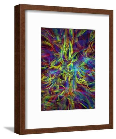 Holographic Texture--Framed Art Print