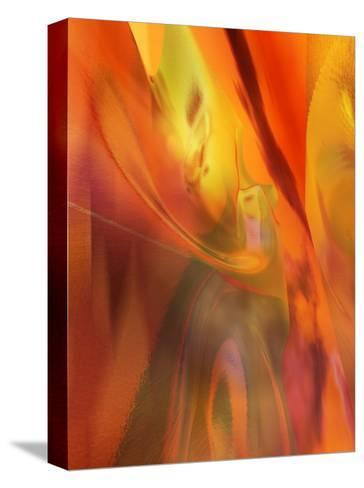 Red Heat Texture--Stretched Canvas Print