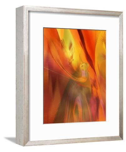 Red Heat Texture--Framed Art Print